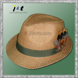 wholesale ladies' hand woven spring and autumn triby hat 18001